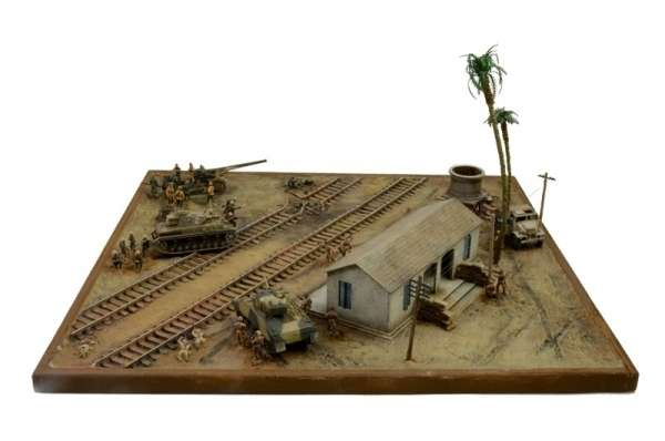 Battle Set El ALamein The Railway Station Italeri 6181 zestaw modelarski do sklejania image_1_ita6181_d-image_Italeri_6181_3