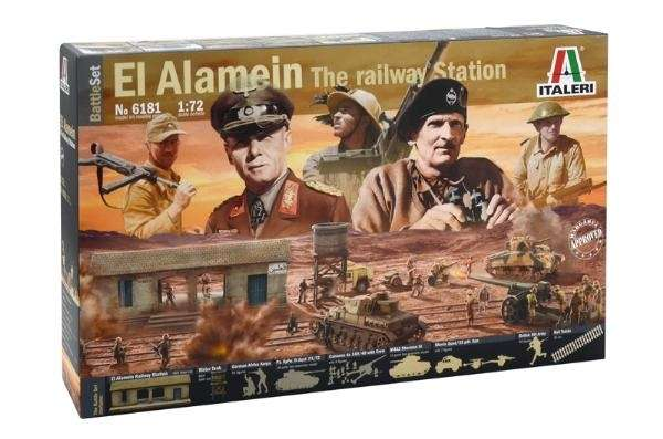 Battle Set El ALamein The Railway Station Italeri 6181 zestaw modelarski do sklejania image_1_ita6181_b-image_Italeri_6181_3