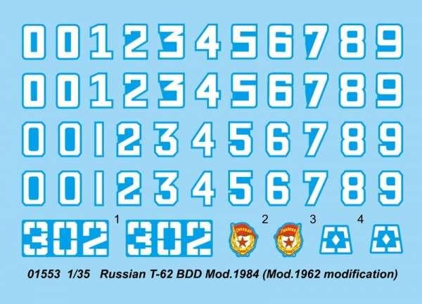 Model czołgu T-62 w skali 1:35 do sklejania, Trumpeter 01553_image_2-image_Trumpeter_01553_3