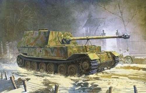 Działo samobieżne Sdkfz 184 Elefant do sklejania w skali 1:35 - model Dragon 6465.-image_Dragon_6465_3
