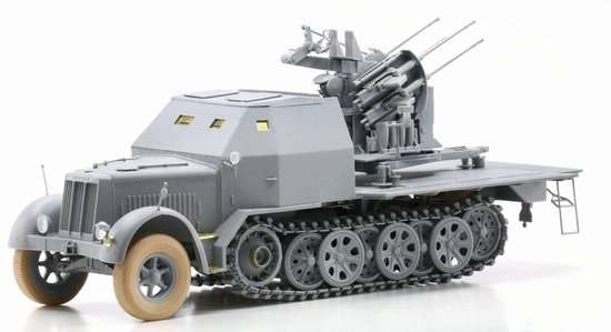 Model Dragon 6533 Sd.Kfz.7-1 2cm Flakvierling 38 with Armor Cab -image2-dra6533-image_Dragon_6533_3