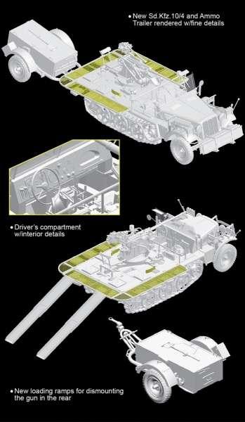 Sd.Kfz. 10/4 fur 2cm FlaK 30 1940 Producion w/Ammo_image_1_model_dragon_6711-image_Dragon_6711_3