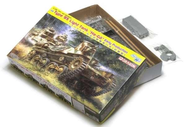 Opakowanie czołgu lekkiego Ha-Go 95, model do sklejania w skali 1/35-image_Dragon_6767_3