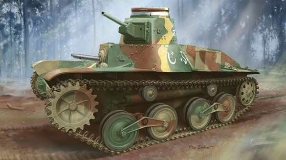 Type 95 Light Tank Ha-Go (Late Production) model_do_sklejania_dragon_6770_image_19-image_Dragon_6770_3