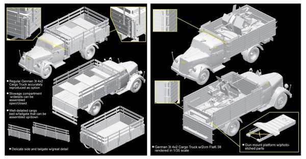 German Opel Blitz 3t 4x2 Truck w/2cm FlaK 38 model_dragon_dra6828_image_1-image_Dragon_6828_3