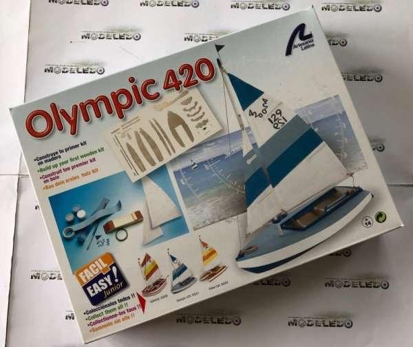drewniany-model-zaglowki-olympic-420-do-sklejania-sklep-modeledo-image_Artesania Latina drewniane modele statków_30501_2