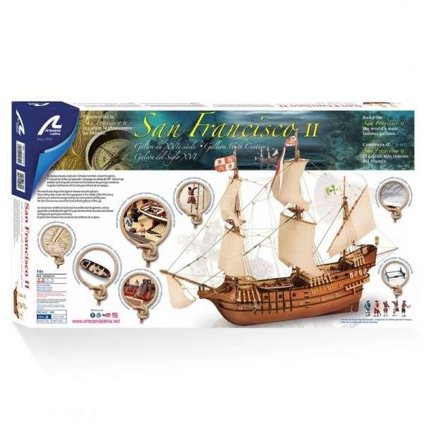 drewniany-model-do-sklejania-galeonu-san-francisco-ii-sklep-modeledo-image_Artesania Latina drewniane modele statków_22452-N_14