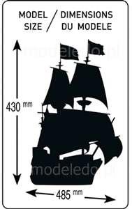 Model żaglowca Mayflower do sklejania w skali 1-150 heller_80828_image_4-image_Heller_80828_4