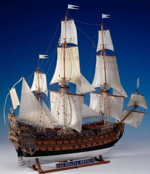 Sklejony model Heller 80899 statku żaglowego Le Soleil Royal w skali 1/100-image_Heller_80899_17