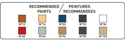 Kolory farb potrzebne do pomalowania modelu statku Heller 80899 Soleil Royal-image_Heller_80899_16