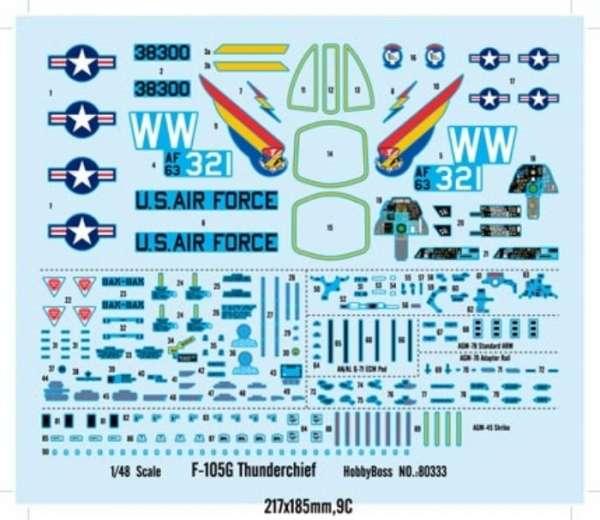 Plastikowy model Hobby Boss 80333 F-105G Thunderchief do sklejania - image_2-image_Hobby Boss_80333_2