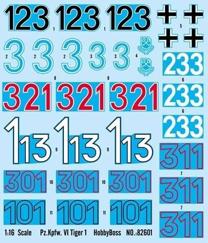 Kalkomania do modelu Hobby Boss 82601-image_Hobby Boss_82601_3
