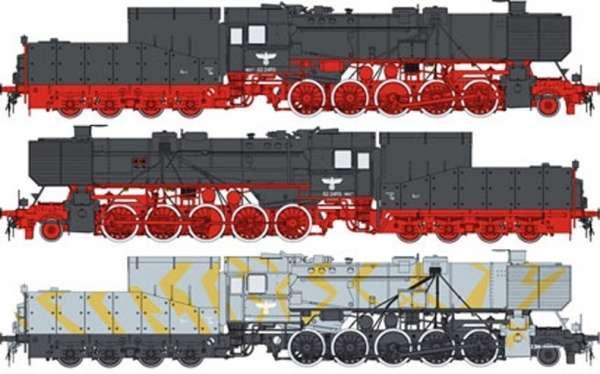 Model niemieckiej lokomotywy pancernej z okresu WWII Kriegslokomotive_BR_52_Hobby_boss_82901_image_2-image_Hobby Boss_82901_3