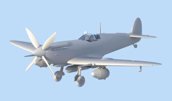 ICM 48060 w skali 1:48 - model Spitfire Mk.IXC Beer Delivery do sklejania - image b-image_ICM_48060_2