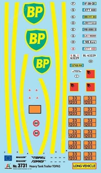 Olbrzymia cysterna BP do sklejania w skali 1:24 model Italeri 3731 ita3731_image_4-image_Italeri_3731_5