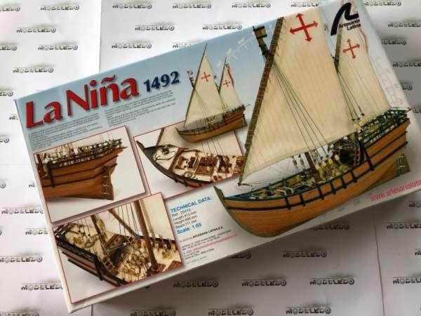 drewniany-model-karaweli-nina-do-sklejania-modeledo-image_Artesania Latina drewniane modele statków_22410_6