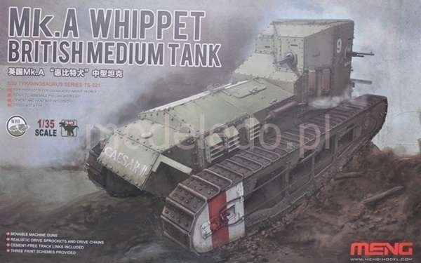 Model Meng TS-021 Mk.A Whippet British Medium Tank WWI plastikowy_model_do _sklejania_image_7-image_Meng_TS-021_5
