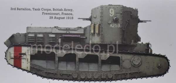Model Meng TS-021 Mk.A Whippet British Medium Tank WWI plastikowy_model_do _sklejania_image_3-image_Meng_TS-021_3