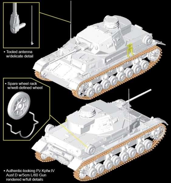 Model do sklejania Dragon 6736 - Pz.Kpfw.IV Ausf.D w/5cm KwK L/60 model w skali 1:35 - image k-image_Dragon_6736_3