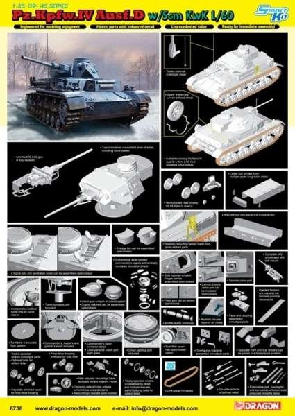 Dragon 6736 - image f - Pz.Kpfw.IV Ausf.D w/5cm KwK L/60 model w skali 1:35-image_Dragon_6736_3