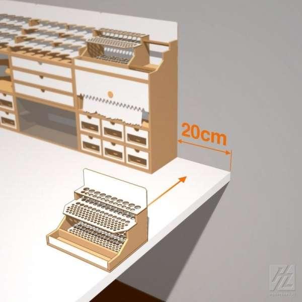 Hobby Zone OMs07 - modułowy organizer na pędzle i narzędzia modelarskie - 20cm - image modeledo.pl -d-image_Hobby Zone_OMs07_3
