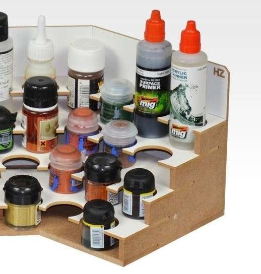 Hobby Zone OM06b - narożny modułowy organizer na farby 36mm - image modeledo.pl -b-image_Hobby Zone_OM06b_3