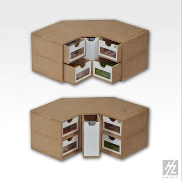 Hobby Zone OM03 - modułowy organizer narożny z szufladkami - image modeledo.pl -d-image_Hobby Zone_OM03_3