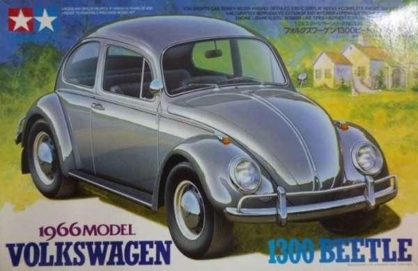 Niemiecki samochód osobowy Volkswagen 1300 Beetle 1966 Model, plastikowy model do sklejania Tamiya 24136 w skali 1:24.-image_Tamiya_24136_1