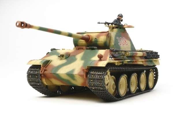 Niemiecki czołg Pantera w wersji G - wczesna produkcja (z silniczkiem), plastikowy model do sklejania Tamiya 30055 w skali 1:35.-image_Tamiya_30055_1
