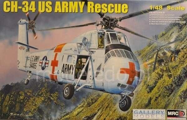 CH-34 US Army Rescue - amerykański śmigłowiec ratowniczy w skali 1:48 model_mrc_64103_image_10-image_Merit_64103_6