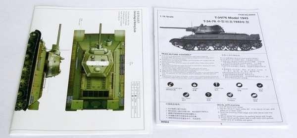 Trumpeter 00903 w skali 1:16 - model Soviet Tank T34/76 model 1943 - image k-image_Trumpeter_00903_3