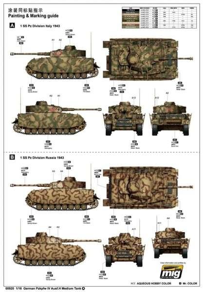 Trumpeter 00920 w skali 1:16 - model German Pzkpfw IV Ausf.H Medium Tank - image a2-image_Trumpeter_00920_8