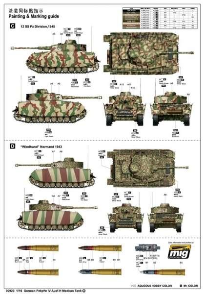 Trumpeter 00920 w skali 1:16 - model German Pzkpfw IV Ausf.H Medium Tank - image a1-image_Trumpeter_00920_8