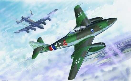 German fighter Messerschmitt Me262_a_1a plastikowy_model_do_sklejania_trumpeter_02235_image_11-image_Trumpeter_02235_2