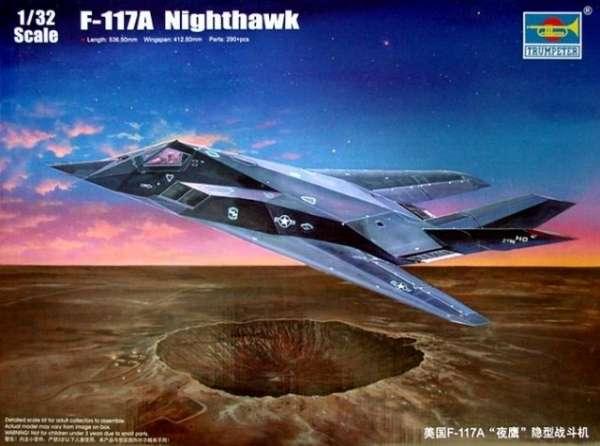 Amerykański samolot w technologii Stealth Lockheed F-117 Nighthawk w skali 1:32 model do sklejania Trumpeter_03219_image_2-image_Trumpeter_03219_3