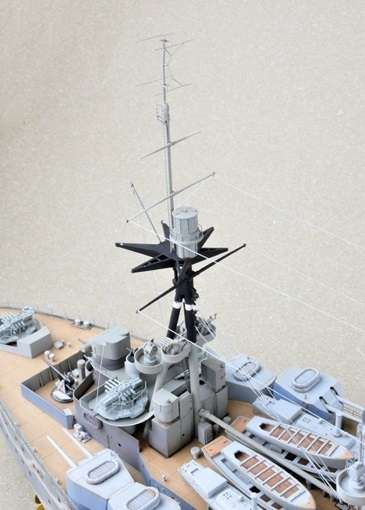 Brytyjski okręt wojenny - pancernik HMS Rodney w skali 1:200 plastikowy model do sklejania Trumpeter_03709_image_5-image_Trumpeter_03709_3