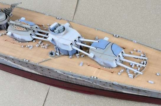 Brytyjski okręt wojenny - pancernik HMS Rodney w skali 1:200 plastikowy model do sklejania Trumpeter_03709_image_6-image_Trumpeter_03709_3