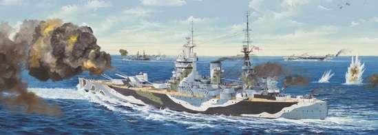 Brytyjski okręt wojenny - pancernik HMS Rodney w skali 1:200 plastikowy model do sklejania Trumpeter_03709_image_21-image_Trumpeter_03709_8