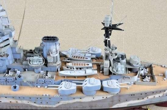 Brytyjski okręt wojenny - pancernik HMS Rodney w skali 1:200 plastikowy model do sklejania Trumpeter_03709_image_4-image_Trumpeter_03709_3