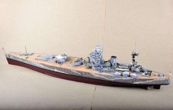 Brytyjski okręt wojenny - pancernik HMS Rodney w skali 1:200 plastikowy model do sklejania Trumpeter_03709_image_3-image_Trumpeter_03709_3