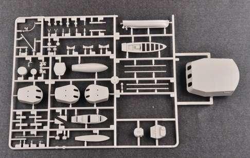 Brytyjski okręt wojenny - pancernik HMS Rodney w skali 1:200 plastikowy model do sklejania Trumpeter_03709_image_13-image_Trumpeter_03709_5