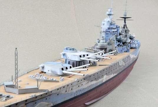 Brytyjski okręt wojenny - pancernik HMS Rodney w skali 1:200 plastikowy model do sklejania Trumpeter_03709_image_1-image_Trumpeter_03709_3