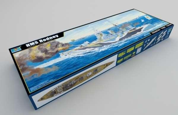 Brytyjski okręt wojenny - pancernik HMS Rodney w skali 1:200 plastikowy model do sklejania Trumpeter_03709_image_20-image_Trumpeter_03709_7
