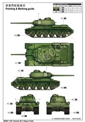 Model do sklejania ciężkiego czołgu JS-1 model_trumpeter_05587_skala_1_35_image_3-image_Trumpeter_05587_4