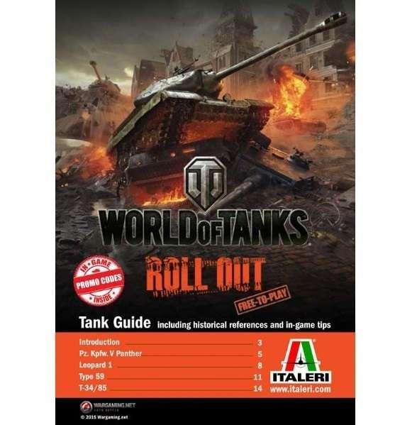 Model World of tank do sklejania z kodami do gry Type59 Italeri 36508 ita36508_image_4-image_Italeri_36508_5