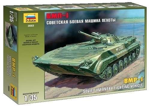 Russian infantry fighting vehicle model do sklejania w skali 1:35 - BMP-1 Zvezda 3553-image_Zvezda_3553_1