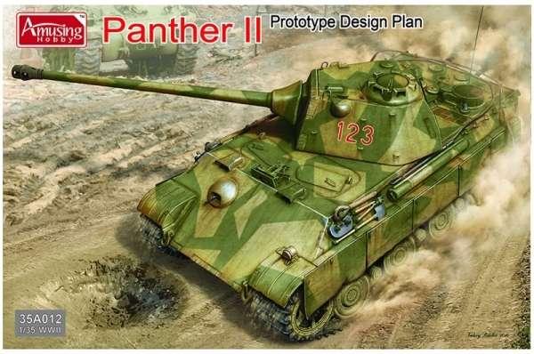 Niemiecki czołg Panther II - projekt prototypowy, plastikowy model do sklejania Amusing Hobby 35A012 w skali 1:35-image_Amusing Hobby_35A012_1