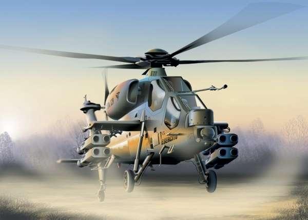 Model włoskiego szturmowego śmigłowca Agusta A129 Mangusta, plastikowy model do sklejania Italeri 006 w skali 1/72.-image_Italeri_006_1