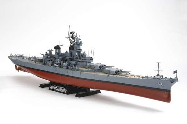 Amerykański pancernik BB-62 New Jersey, plastikowy model do sklejania Tamiya 78028 w skali 1:350-image_Tamiya_78028_1
