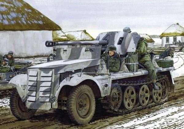 Niemiecki lekki ciągnik artyleryjski Zugkrafteagen 1t z armatą 5cm PaK 38, plastikowy model do sklejania Dragon 6719 w skali 1:35.-image_Dragon_6719_1
